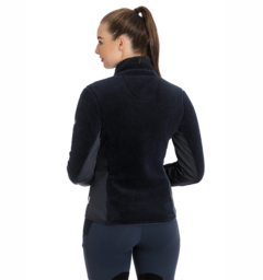 Cardi Cozy Fleece Navy Back