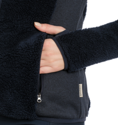 Cardi Cozy Fleece Navy Thumbhole