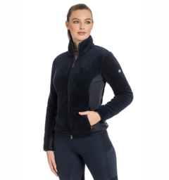 Cardi Cozy Fleece Navy front