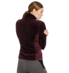 Cardi Cozy Fleece Fig Back