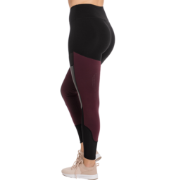 Fashion Riding Tights- Silicon Black/Fig Back