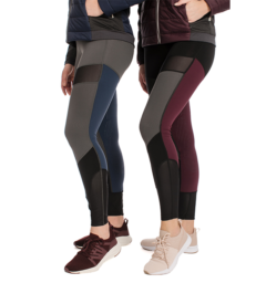 Fashion Riding Tights- Silicon Black/Fig / Grey/Navy