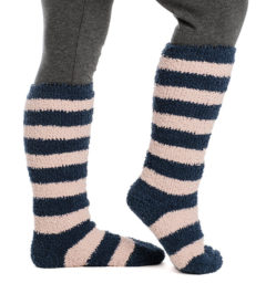 Softie Socks Misty Rose Stripe