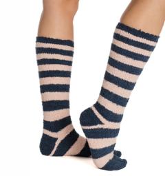 Softie Socks Misty Rose Stripe Ladies