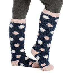 Softie Socks Navy Dot