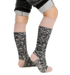 Kids Winter Wooly Sock Misty Rose