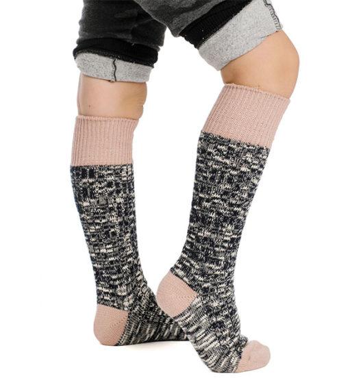 Kids Winter Wooly Sock Misty Rose