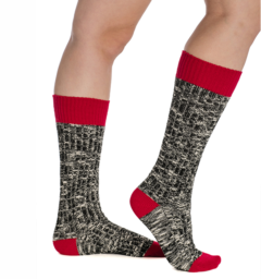 Winter Wooly Socks Red Lollipop