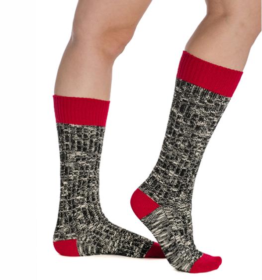 Winter Wooly Socks Red Lollipop
