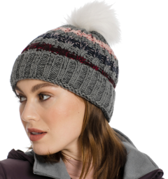 Knitted hat grey stripe