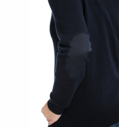 Horseware Signature V Neck Sweater elbow patch