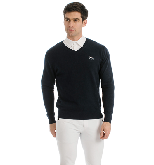 Signature Cotton Knitted V-Neck Sweater