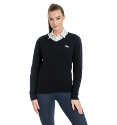 Horseware Signature V Neck Sweater ladies front