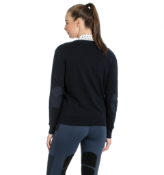 Horseware Signature V Neck Sweater ladies back