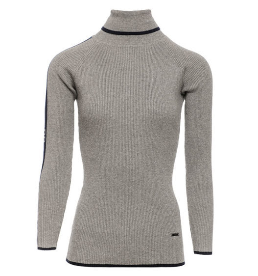 AA Ribbed Polo Neck