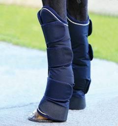 Rambo travel boots navy/cream front