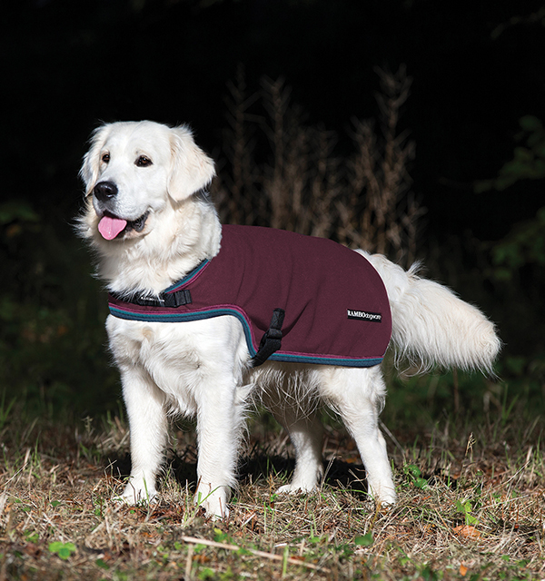Rambo® Waterproof Fleece Dog Blanket Burgundy