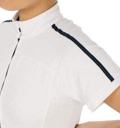 AA Evora Ladies Competition Shirt, White front view