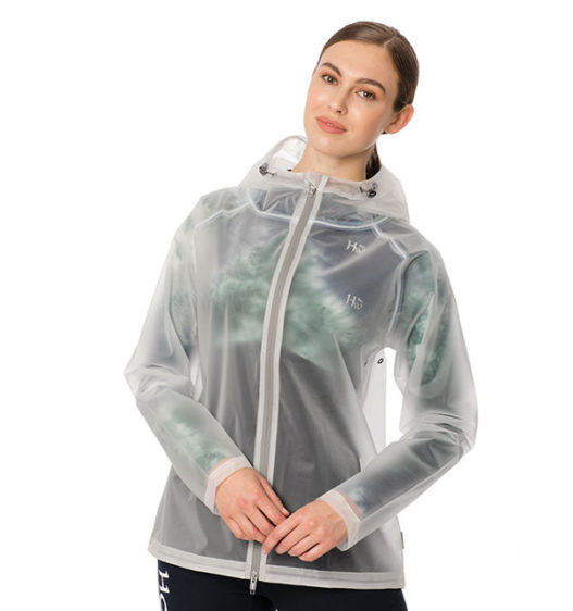Transparent Waterproof Rain Jacket - Front View
