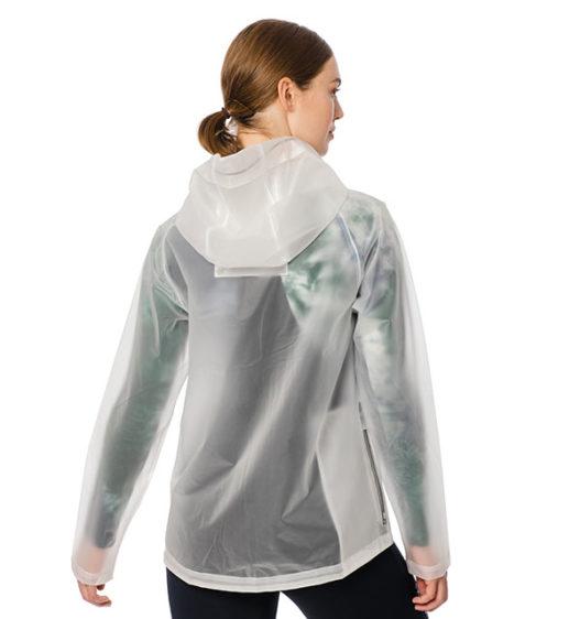 Transparent Waterproof Rain Jacket - Back View